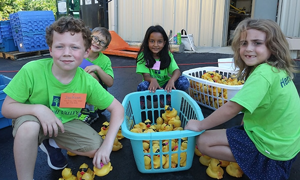 First Graders and the URS Duck Regatta