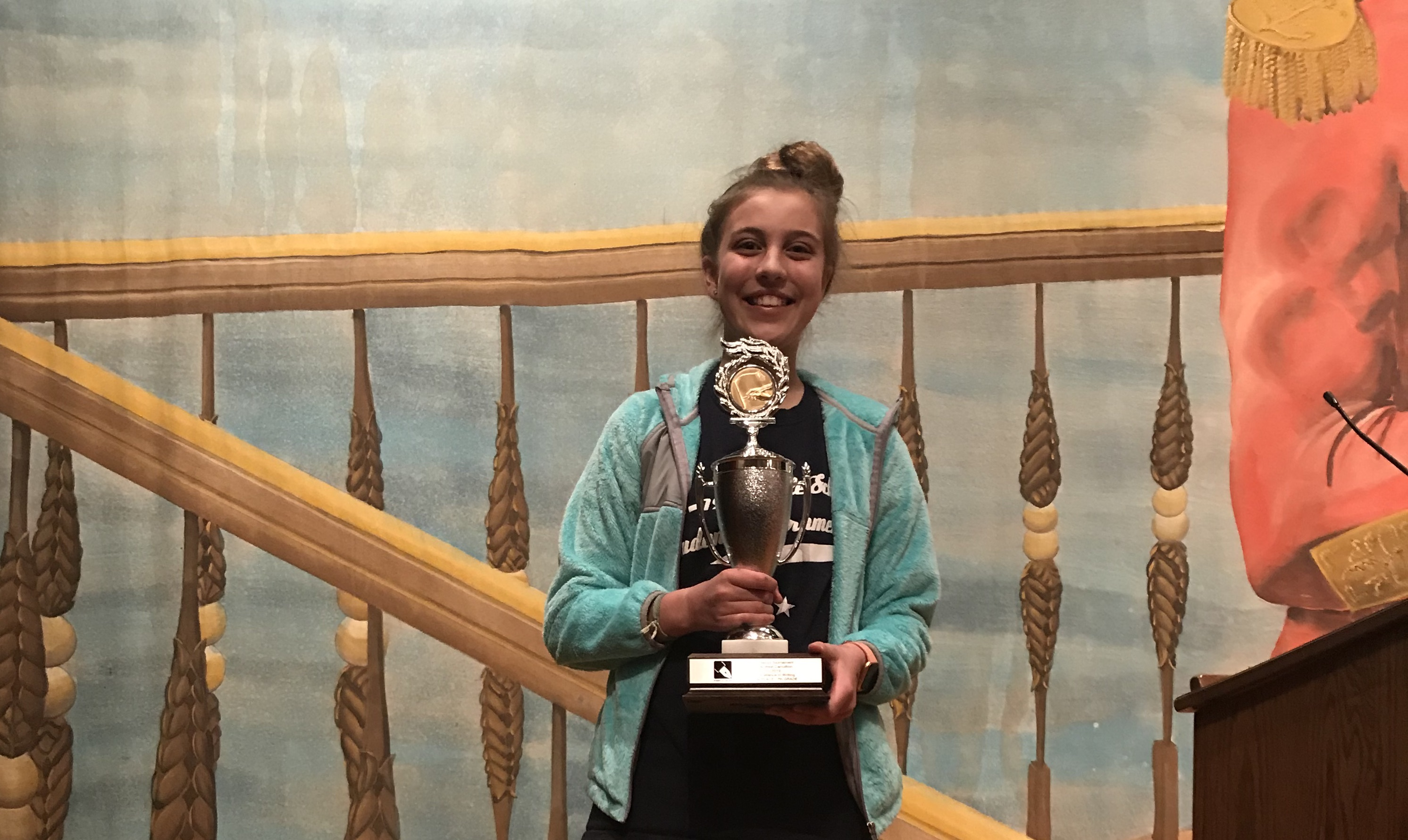 MVS 7th Grader is District Writing Champion