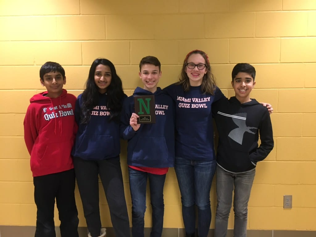 Middle School Quiz Bowl Champions